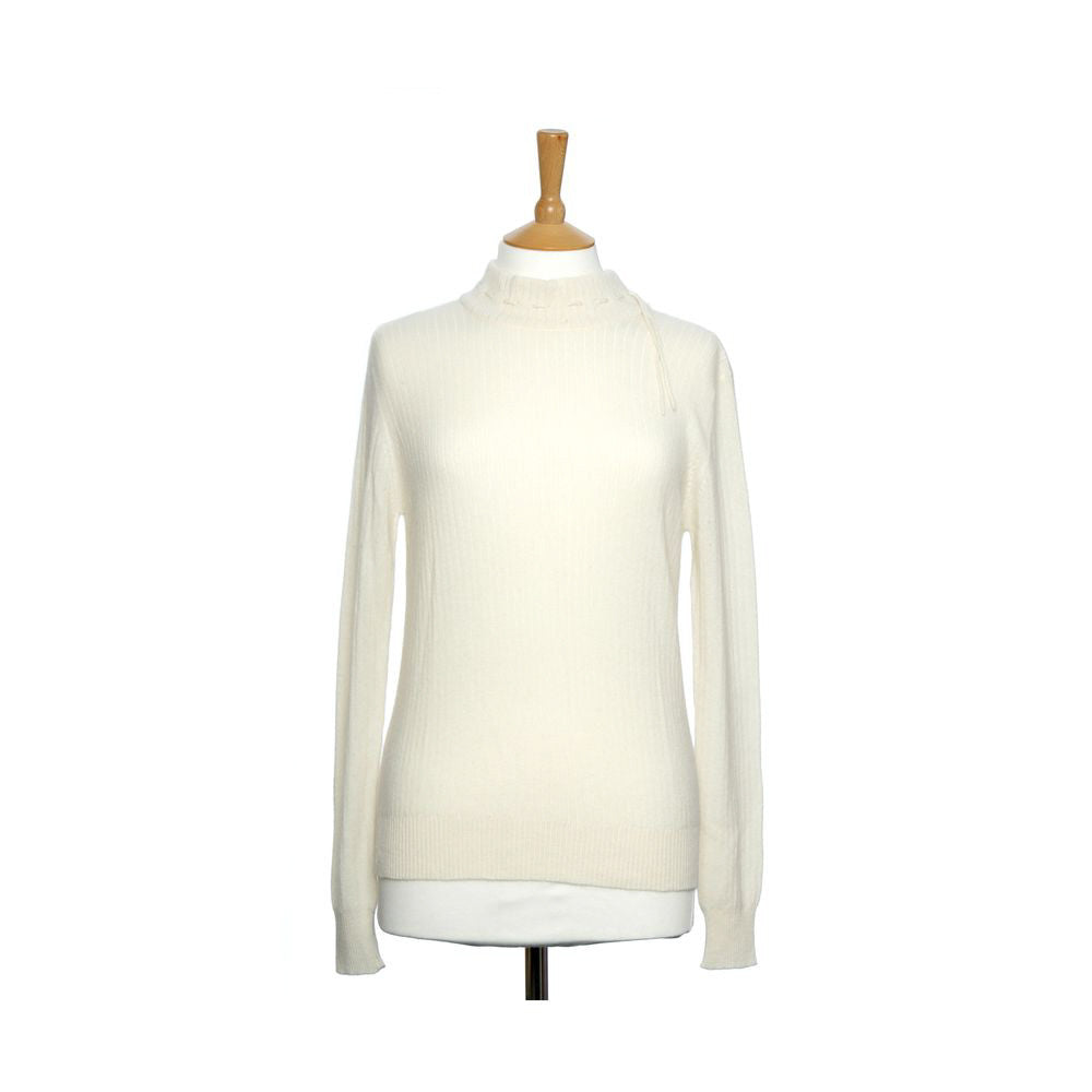 Mock Turtleneck Cashmere Jumper Snow