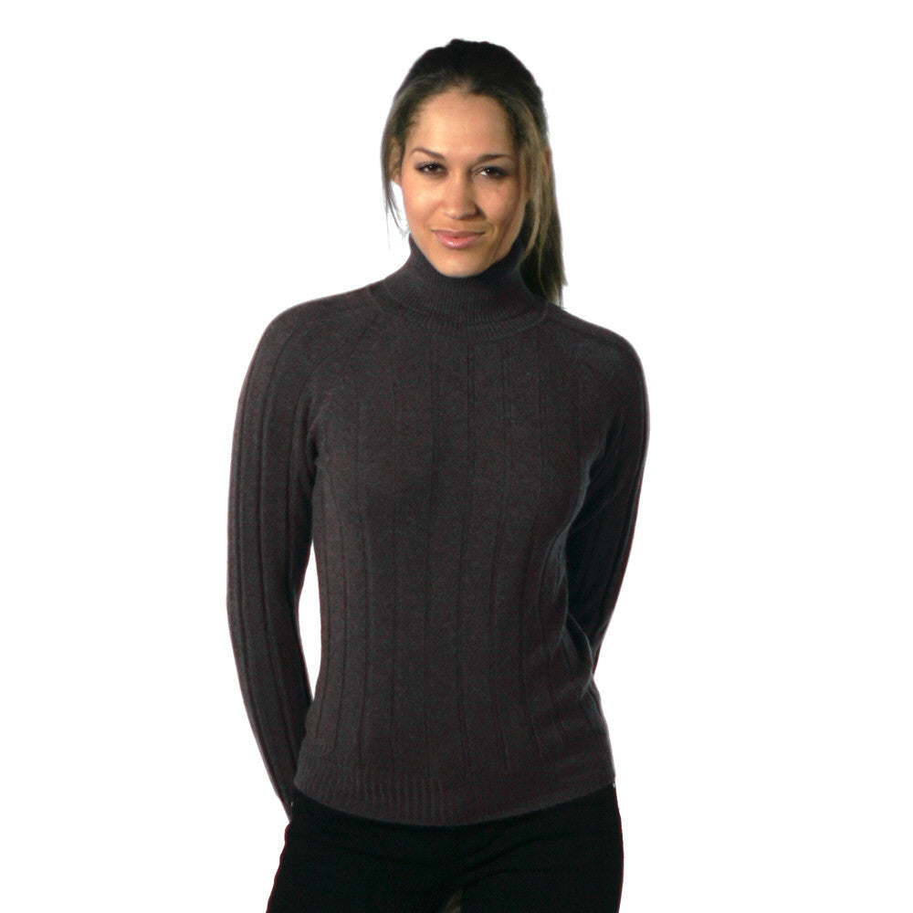 Polo Neck Cashmere Jumpers Charcoal