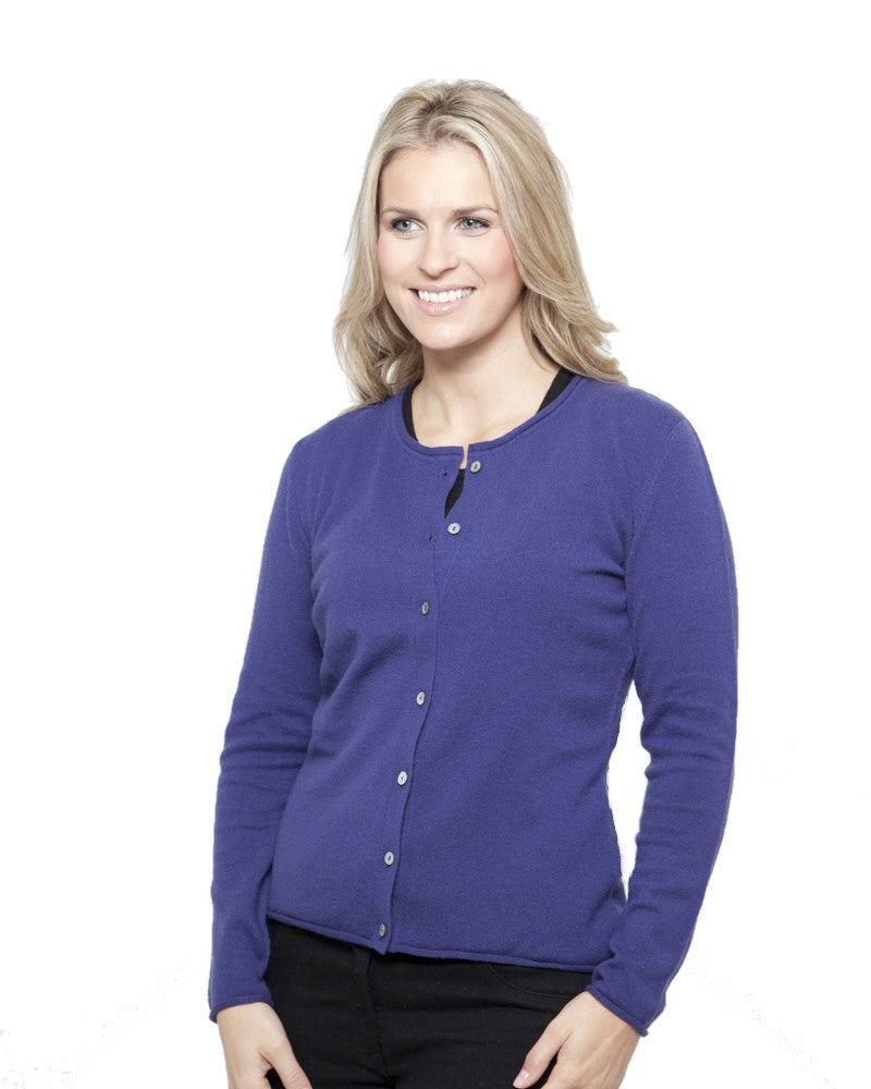 Women's cashmere cardigan mariner blue