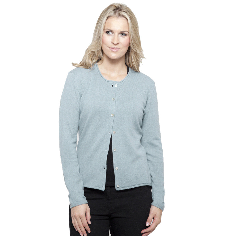 Womens Duck Egg Blue Cardigan 42