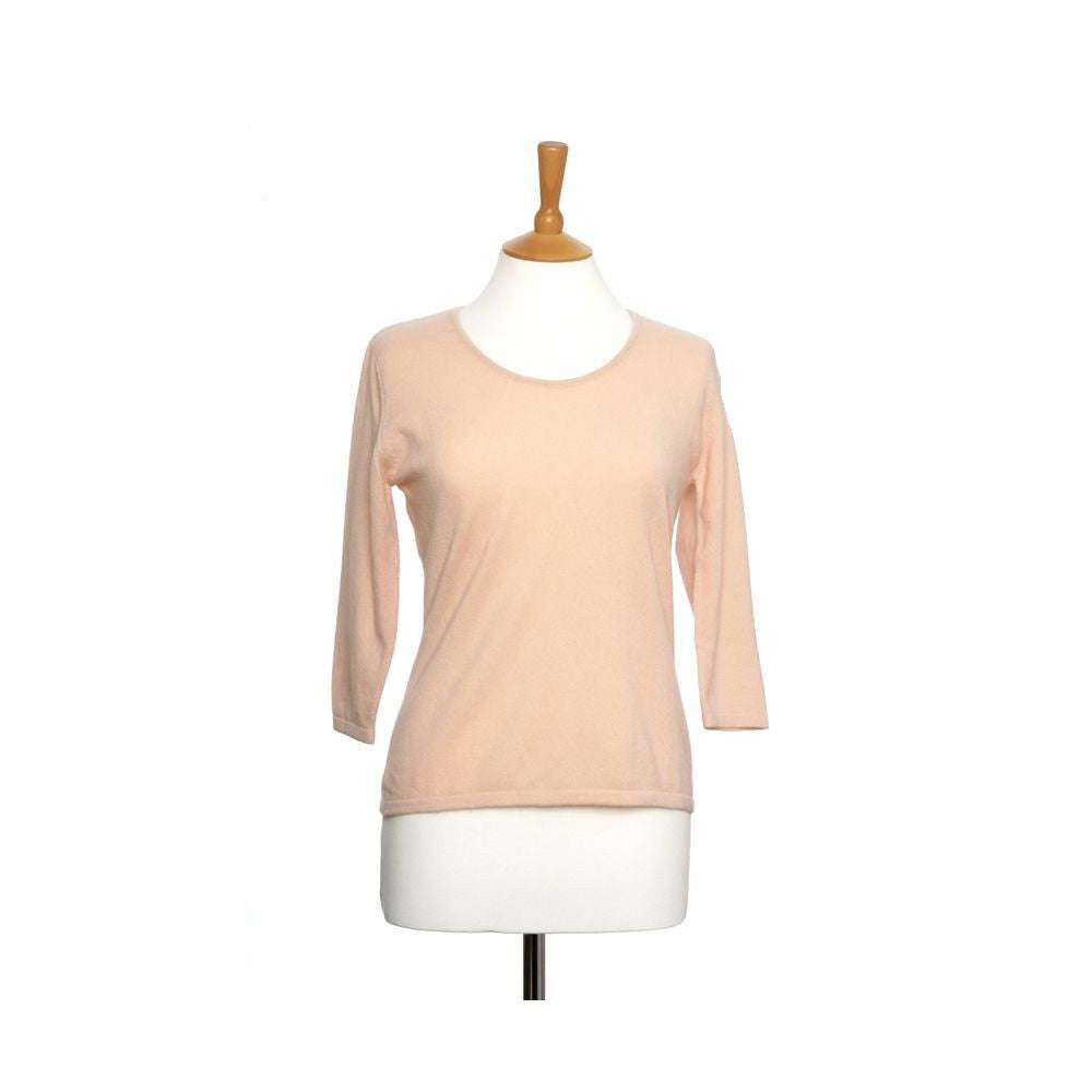 Ruched Neck Cashmere Jumper Soft Peach