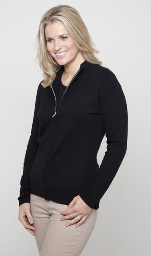 Women's Zip-Up Cashmere Cardigans