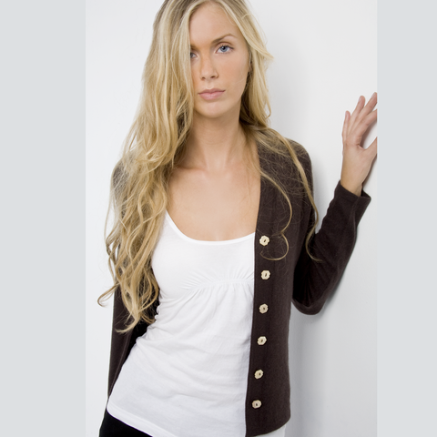 Women's Silk and Cashmere Ballet Cardigan