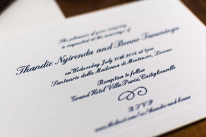 WORDING A WEDDING INVITATION