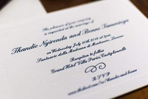 LETTERPRESS WEDDING INVITATONS