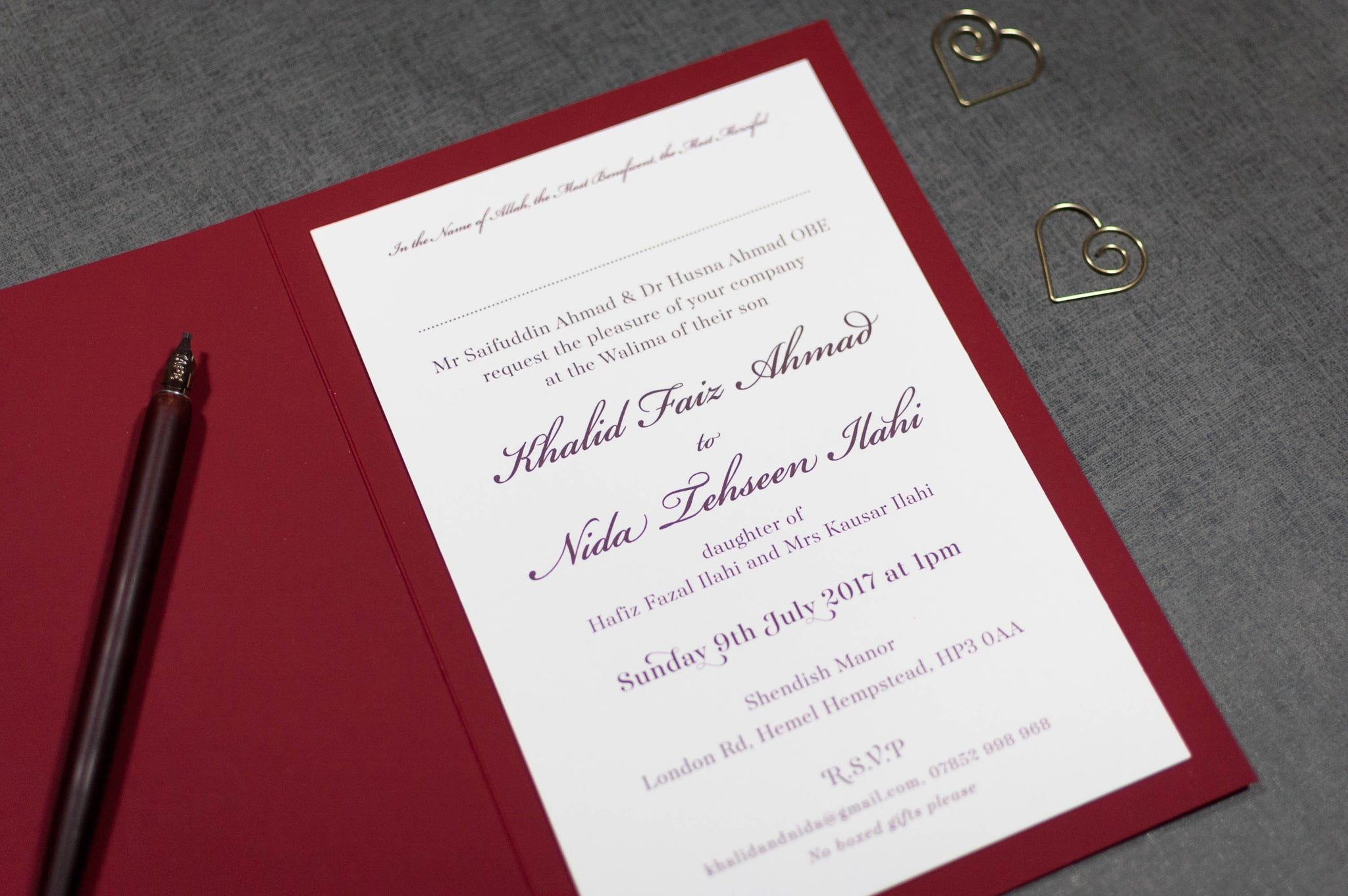 Bespoke Wedding Stationery Design Service - Com Bossa, Luxury ...