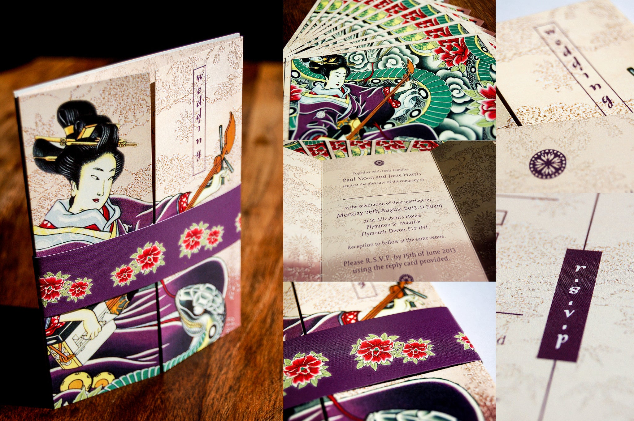 Bespoke Wedding Invitation Design Japanese