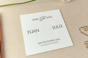Letterpress Wedding Save the Date, Ampersand