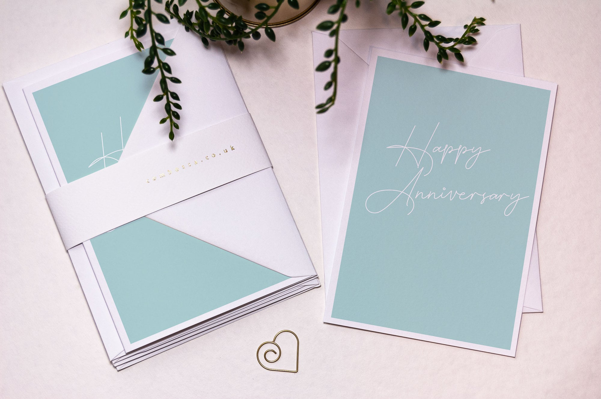 Script Happy Anniversary Card - Blue