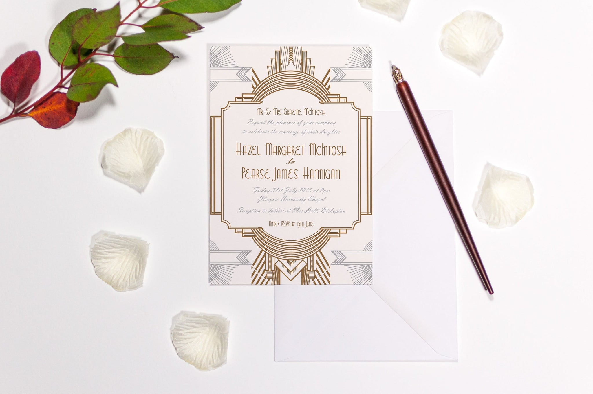 Art Deco Wedding Invitations.Art Deco Wedding Invitation Hd Digital Print