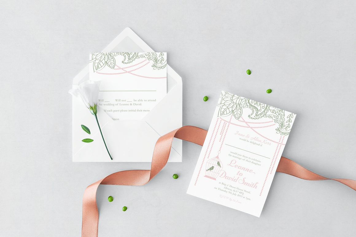 Birdcage Wedding Invitation, HD Digital Print
