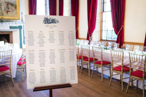 Brig o' Doon with Calligraphy, Wedding Table Plan