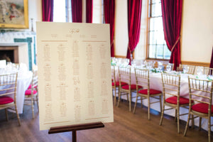 Classic with Beagle, Wedding Table Plan