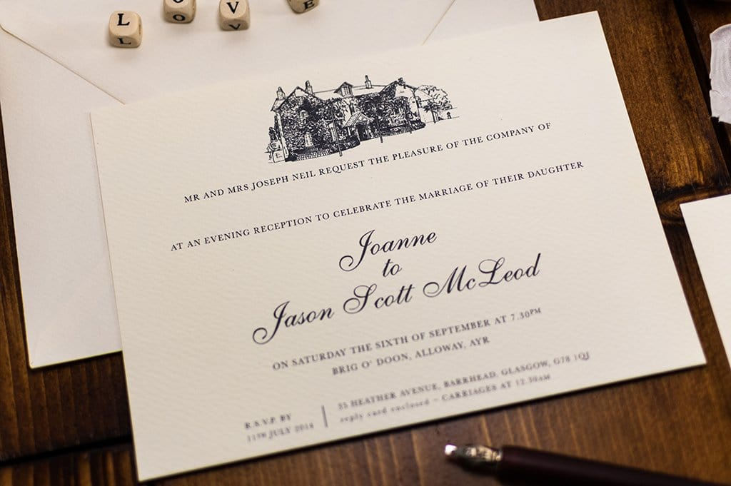 Printed Wedding Invitations: Brig O' Doon Wedding Invitation, HD Digital Print