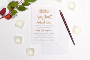 Brig o' Doon Wedding Invitation, HD Digital Print Sample