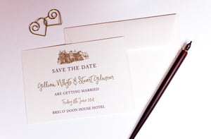 Brig o' Doon Wedding Save The Date Card