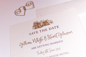 Brig o' Doon Wedding Save The Date Card - NEW