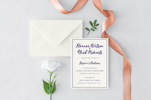 luxuryweddinginvitationsbycombossa HD Printed Wedding Invitations Brush Script Wedding Invitation, HD Digital Print