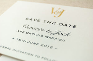 Classic Monogram Save the Date, Monogram Initials
