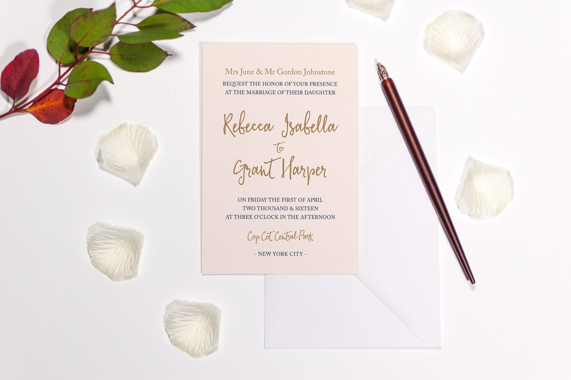 luxuryweddinginvitationsbycombossa HD Printed Wedding Invitations Sample Invitation £1.60 (Colour as shown) / As Shown Calligraphy Wedding Invitation, Sample