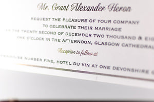 luxuryweddinginvitationsbycombossa Embossed Wedding Invitation Embossed Wedding Invitation, Glasgow Cathedral