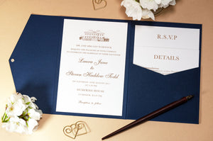Dumfries House Pocketfold Wallet Wedding Invitation