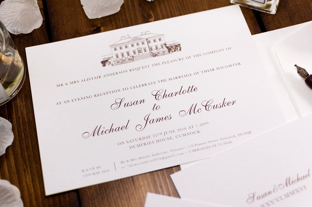 Dumfries House Wedding Invitation, HD Digital - Luxury Wedding Invitations
