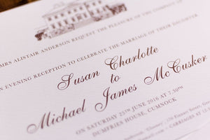 luxuryweddinginvitationsbycombossa HD Printed Wedding Invitations Dumfries House Wedding Invitation, HD Digital Print
