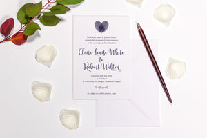 Finger Print Heart Wedding Invitation, HD Digital Print