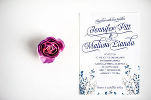 Rustic Meadow Wedding Invitation, HD Digital - Luxury Wedding Invitations