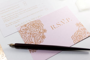 luxuryweddinginvitationsbycombossa HD Printed Wedding Invitations Floral Calligraphy Wedding Invitation, HD Digital Print