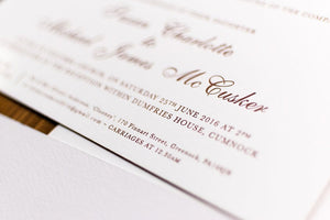 luxuryweddinginvitationsbycombossa Letterpress Wedding Invitations Letterpress Wedding Invitation, Dumfries House
