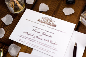 Letterpress Wedding Invitation, Dumfries House