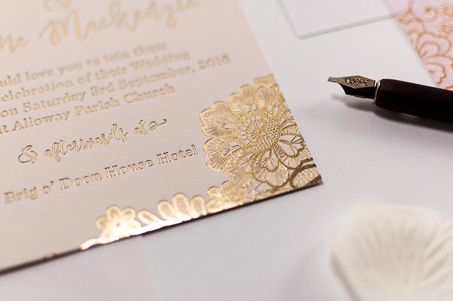 gold embossed wedding invitations uk - 28 images - awesome gold foil ...