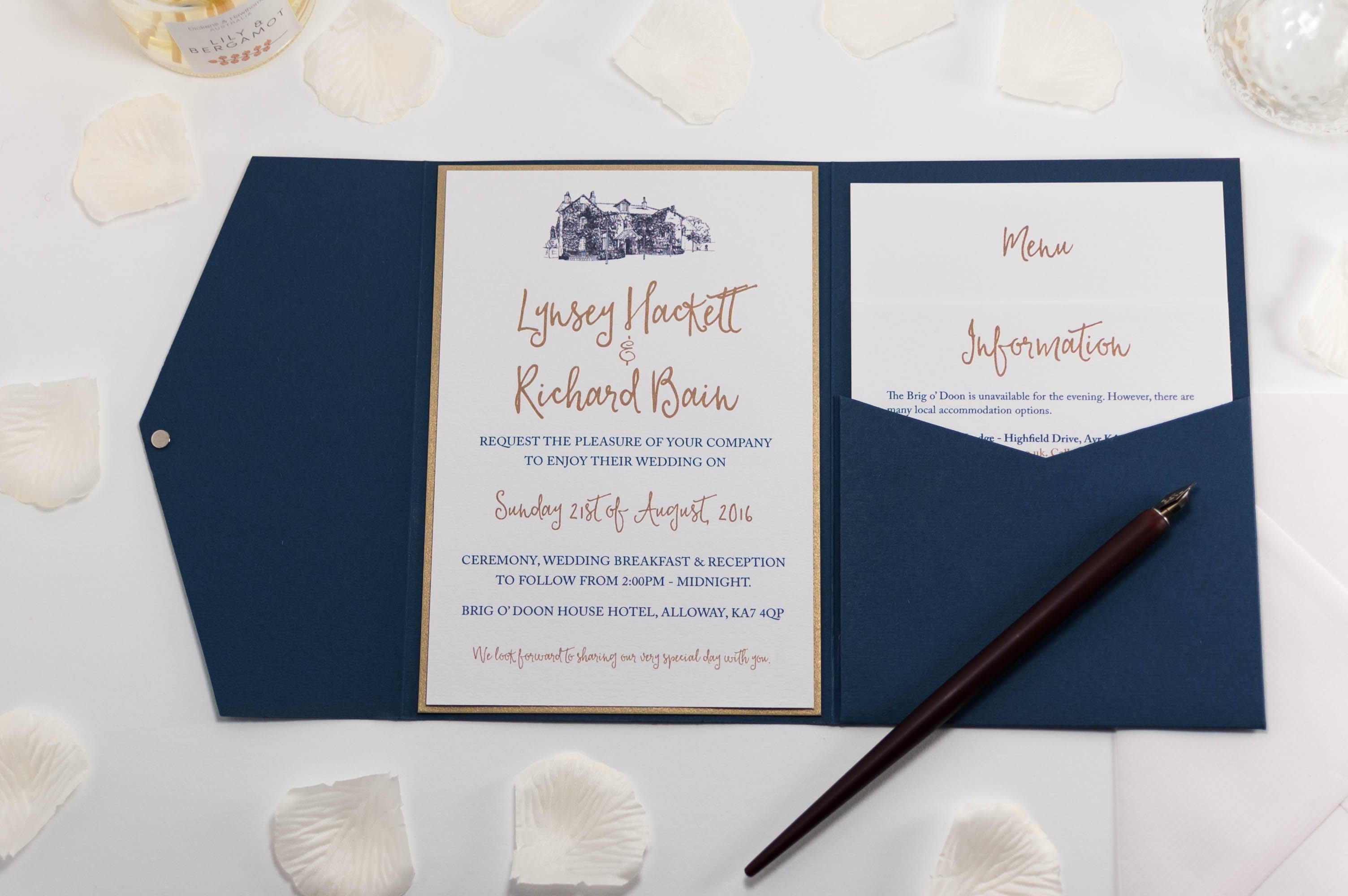 navy and ivory wedding invitations uk - 28 images - and pearl lace ...