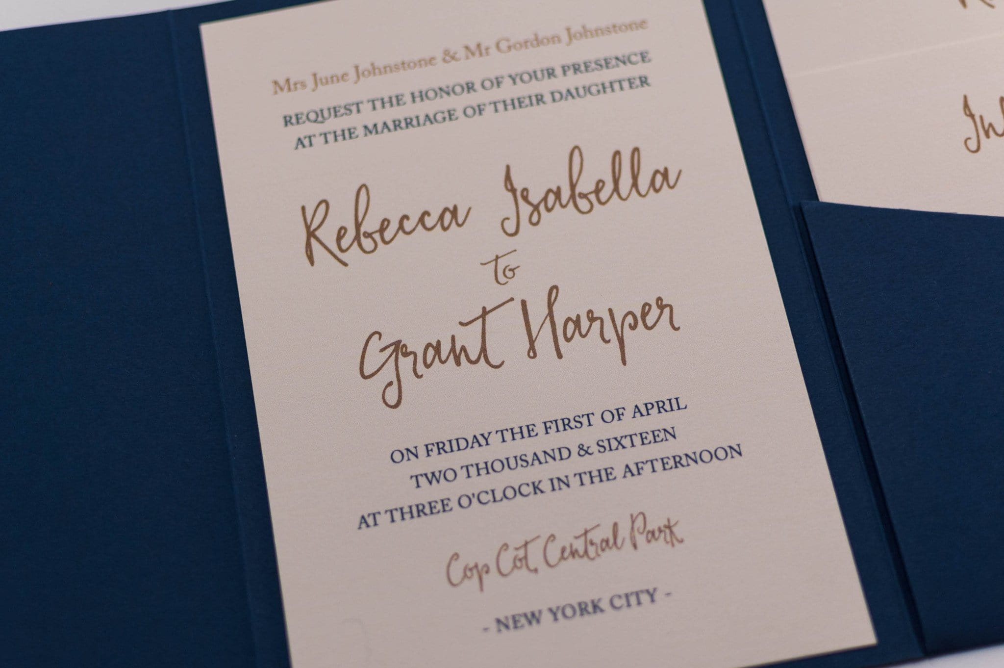 navy wedding invitations calligraphy wedding invitation in navy blue pocketfold 6135
