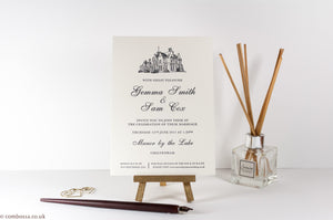 Letterpress Wedding Invitation, Manor by the Lake, Cheltenham
