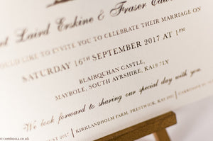 Scottish Castle Wedding Invitations
