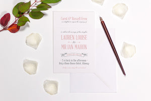 Modern Rustic Wedding Invitation, HD Digital Print