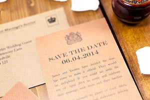 Official (Not) Secret Wedding Save the Date Card NEW