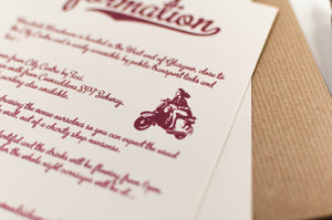 Vintage Wedding Invitation in Kraft Pocketfold - Luxury Wedding Invitations