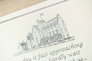 Rowallan Castle Silver Foil, Save The Date