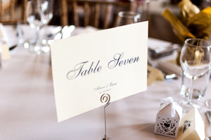 Rowallan Castle, Wedding Table Names/Number Cards