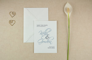 Swirling Script, Save The Date.