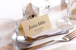 Piersland House, Wedding Place Card