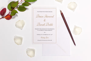 Simple Border Wedding Invitation, HD Digital Print