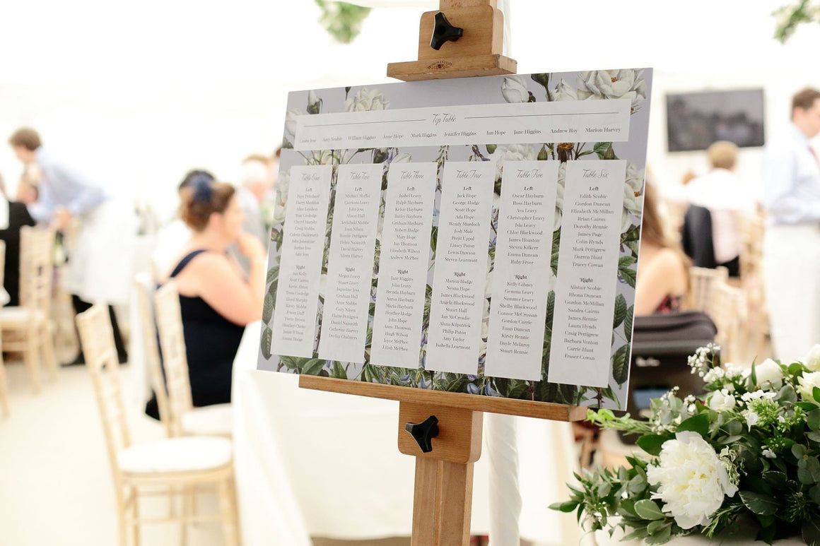 Botanic, Wedding Table Plan