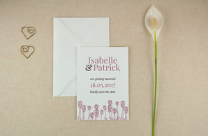 Stylish Tulips, Save The Date.