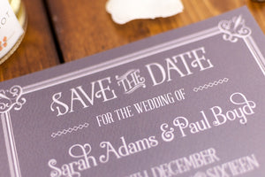 Vintage Film Wedding Save the Date Card