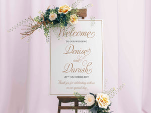 Wedding Welcome Sign, Modern Typography